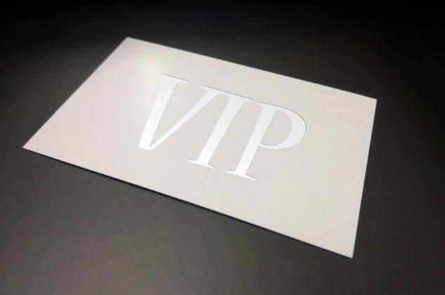 VIP group membership card
