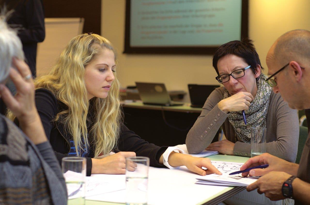 Leadership team meeting to discuss ideas