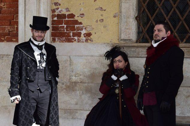 Vampire clan in historical costume