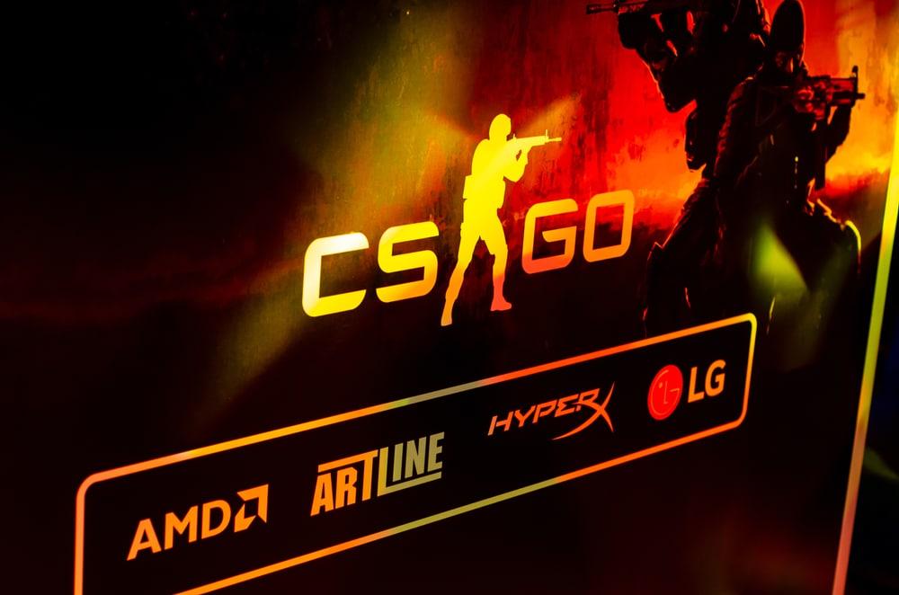 CS:GO logo at a gaming event